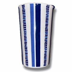 Threshold Blue and White Striped Mug with Lid